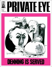 Private Eye cover: Denning Is Served