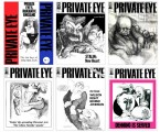 Private Eye Covers: set of 6 prints